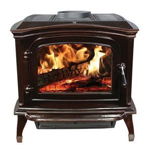 Modern Vermont Castings Wood Enamel Cream Log Burner Stove