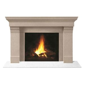 Custom Marble Stone Log Burner Fireplace Surround