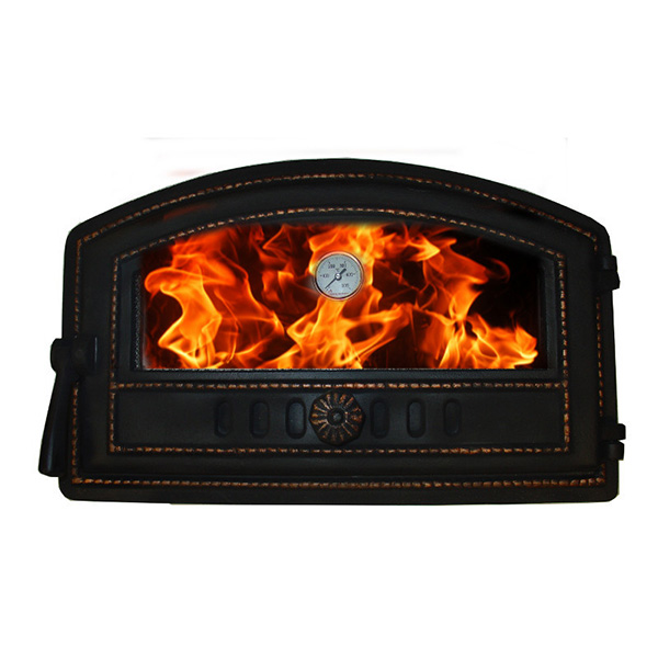 Custom Fireplace Baker Cast Iron Doors Amazon With Glass And A Thermometer