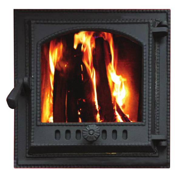 Assembled Furnace Iron Wood Burning Stove Doors With Glass