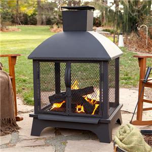 Outdoor Wood Burning Propane Fireplace Camp Stove