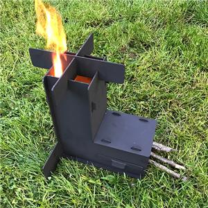 Portable Rocket Wood Stoves Furnance Bakcpacking