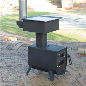 Wood Rocket Cook Stove Pellet Burner