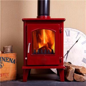 Modern Wood Burning Solid Fuel Stove Enamel