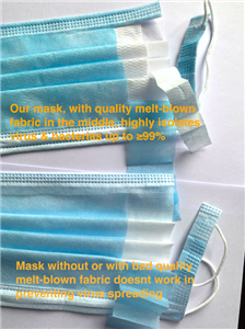Best sale high quality disposable 3ply medical face mask
