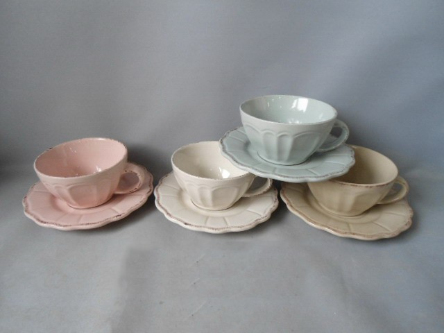 Coffee Cup Plate Set