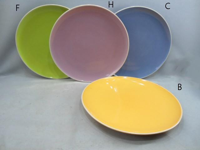 Ceramic Glazed Colorful Plate