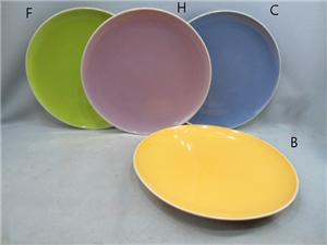 Ceramic Glazed Colorful Plate