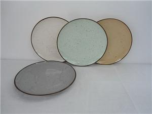 Promotional Colorful Ceramic Cheap Plate