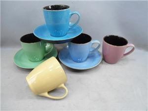 Ceramic Coffee Cup And Saucer Set