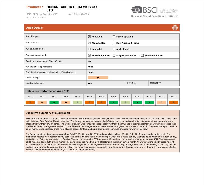 BSCI Sertifikası
