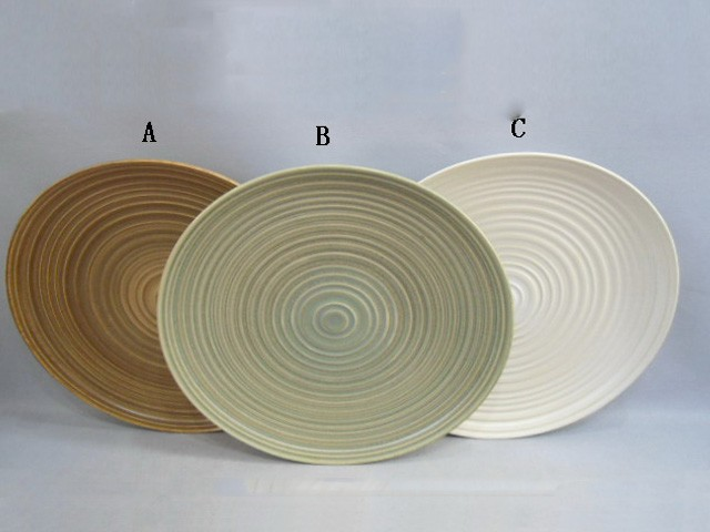 ceramic round serving dish
