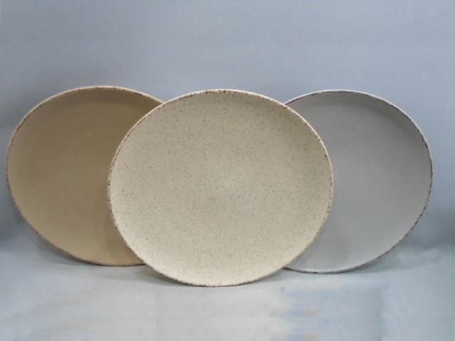 10.5 inch ceramic dessert plate