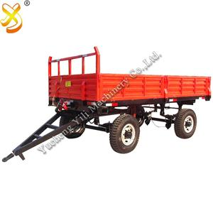 Agricultural 4 Wheel Farm Trailer With Trailer