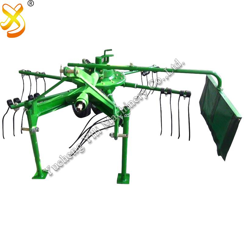 Farm Machinery Tractor Mounted Mini Hay Rake Tedder