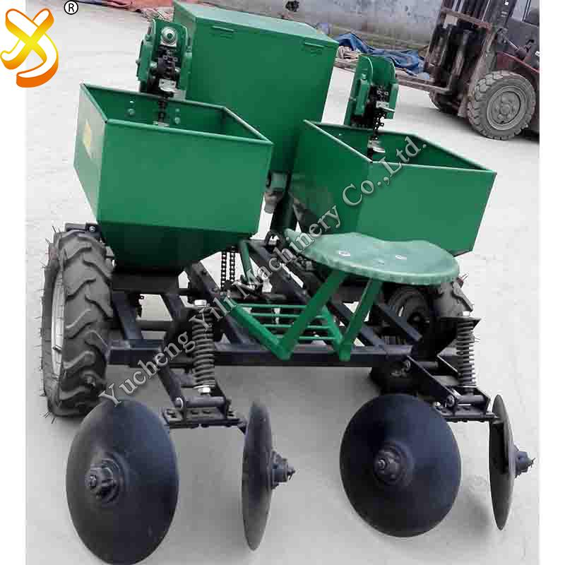 walking tractor potato planter