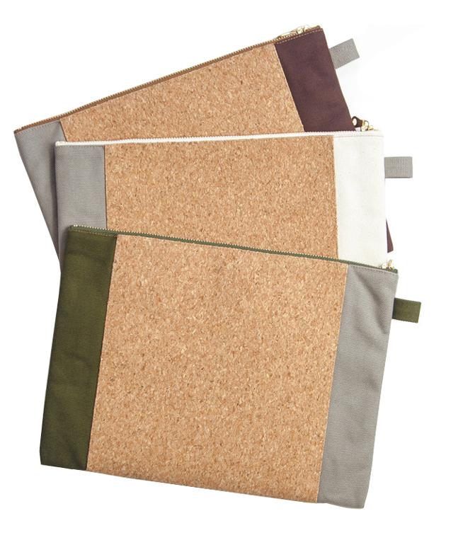 Cork & Canvas Zipper Travel Bag