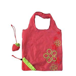 Strawberry shape Quality 210D Polyester Folding Bag shopper