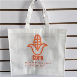 Biodegradable PLA Non Woven Silk Screen Printing Eco-friendly Corn Starch Bag