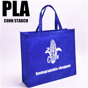 Biodegradable PLA Nonwoven Corn Starch Bag Shopper