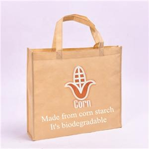 PLA Nonwoven Shopper Biodegradable Corn Starch Bag