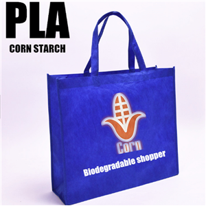 Quality PLA Nonwoven Shopper Biodegradable Corn Starch Bag