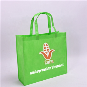 Custom PLA Nonwoven Shopper Biodegradable Corn Starch Bag