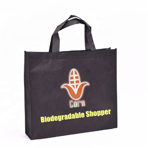 Customized PLA Nonwoven Shopper Biodegradable Corn Starch Bag