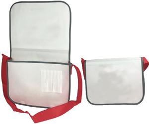 Fashion Non Woven Messenger Custom Flip Over Shoulder Bag