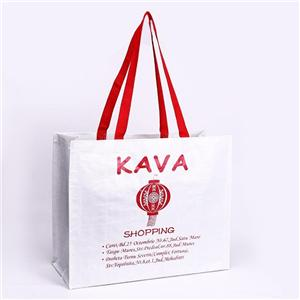 Customizable Laminated Shopper PP Woven Plastic Tote Bag
