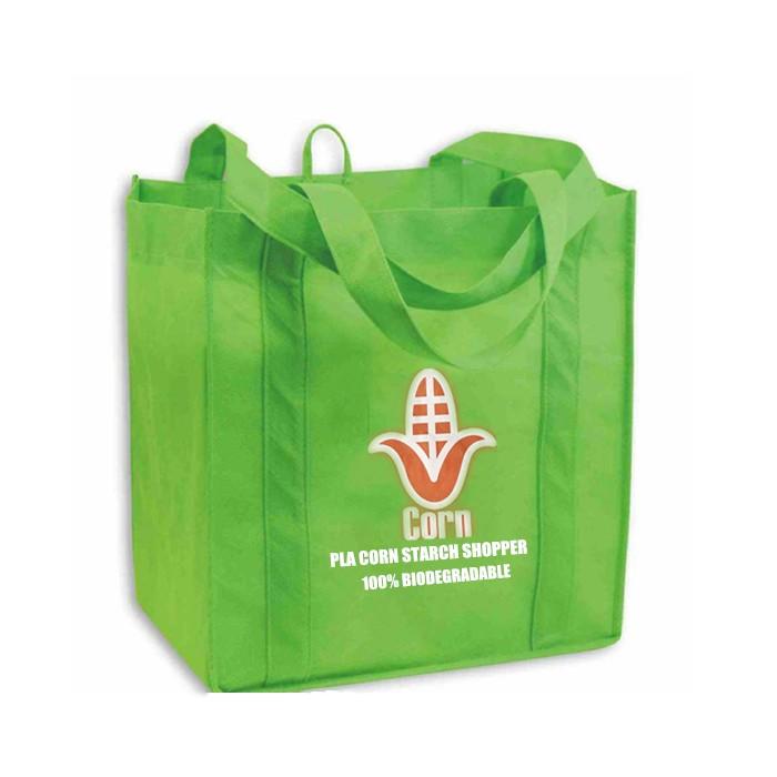 Wholesale PLA Non Woven Shopper Shopping Bag 100% biodegradable Eco-friendly Corn Starch Bags, PLA Non Woven Shopper Shopping Bag 100% biodegradable Eco-friendly Corn Starch Bags Manufacturers, PLA Non Woven Shopper Shopping Bag 100% biodegradable Eco-friendly Corn Starch Bags Producers