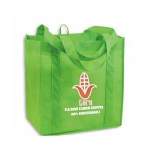 PLA Non Woven Shopper Shopping Bag 100% biodegradable Eco-friendly Corn Starch Bags