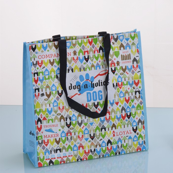 Customizable Recycled Shopper Eco Friendly RPET Laminated Bag