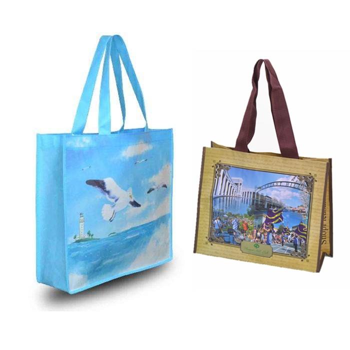 Customizable RPET Shopper Recycled PET Non-woven Bag