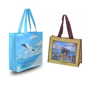 Customizable RPET Shopper Recycled PET Non-woven Bag