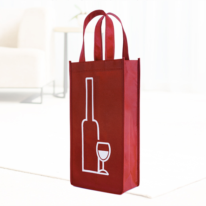 Customizable Promotion Eco-Friendly Non Woven 1 Bottle wine tote bag