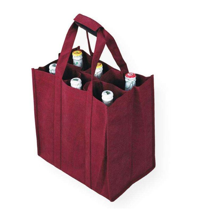 Customizable Give Away Gift Eco-Friendly Non Woven 6 Bottles wine tote beer bag