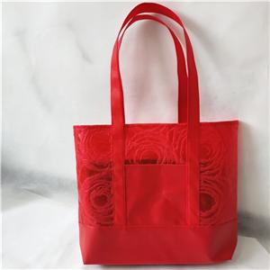 Non Woven With PU Pocket Tote Shopping Bag Shopper