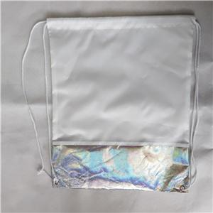 Polyester with Metallic Lminated Non Woven Drawstring bag Packpack