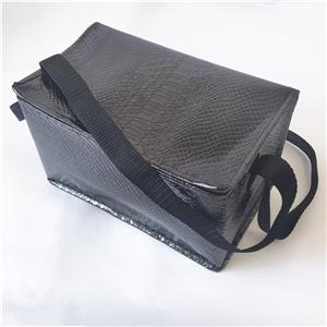 New Product Insulated Snakeskin Pattern Preservable Tote Cooler lunch bag