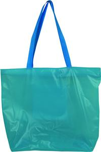 Clear Custom PVC Shopping Bag With Shoulder Handle