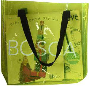 Custom Logo Clear PVC Shopping Bag With Shoulder Handle
