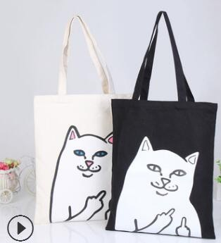Custom printed tote shopping bag cheap cotton bags with logo