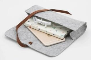 Recycling reusable custom felt bag for glasses umbrella