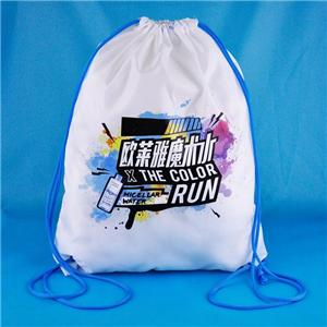 Customizable 210D Backpack shopper Polyester Drawstring bag