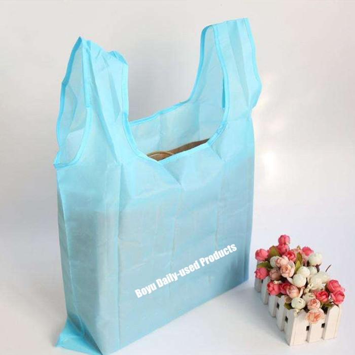 Customizable 109T 210D Folding shopper Foldable Polyester bag