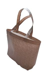 Custom logo laminated embossed non woven bag shopping bag