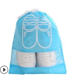 New style wholesale custom logo non woven drawstring shoes bag