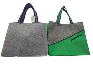 Latest Design Reusable Fashion Felt Cloth Bag for shopping