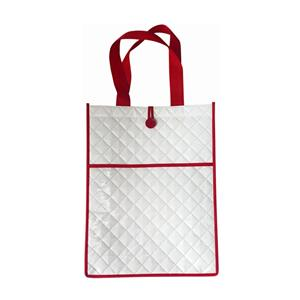 Customizable Embossed PP laminated Shopper white non woven bag